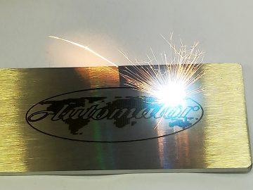 Laser marking on metal