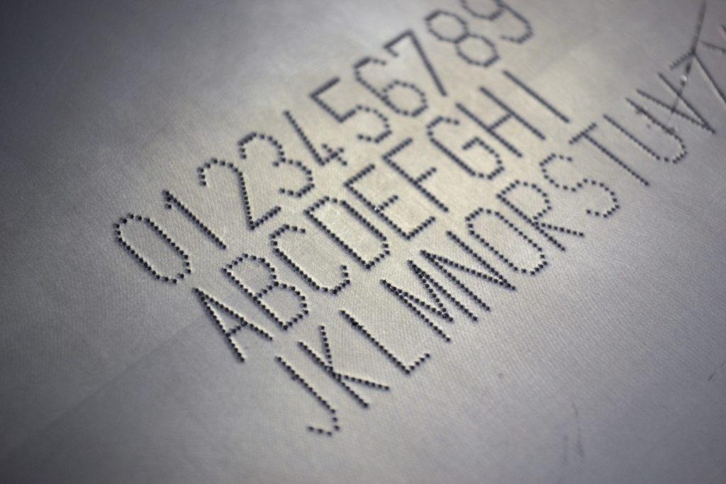 Dot peen marking on metal