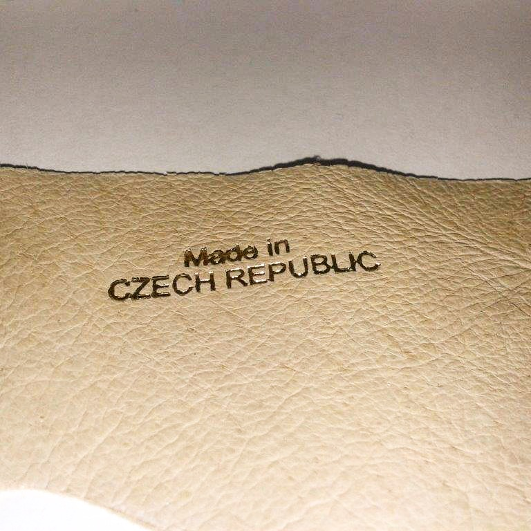 Hot foil marking on leather