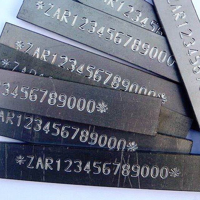 Marcatura a striscio su metallo