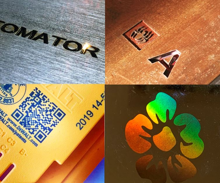 Laser marking on different materials