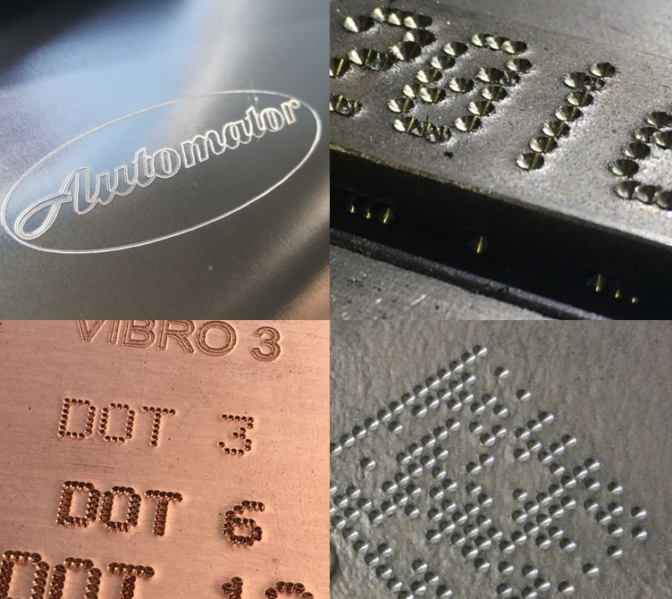 Dot peen marking industrial marking