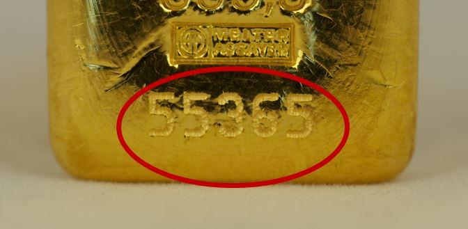 tecnica di marcatura a micropunti per lingotti oro