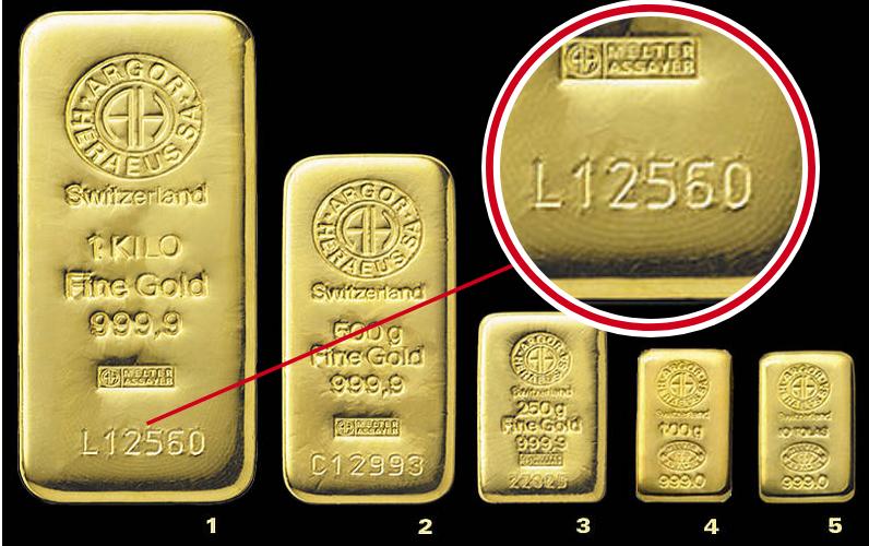marcatura dei lingotti d'oro